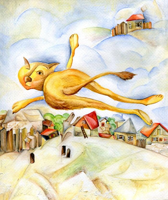 Болгарская художница объединила живопись и котиков, изобразив их в 12 различных узнаваемых стилях