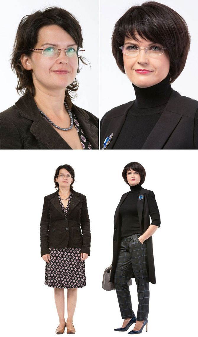 33 обычных женщин До и После работы стилиста