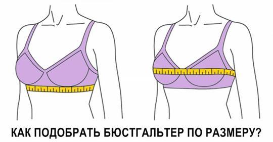 Вот как правильно подобрать бюстгальтер по размеру груди