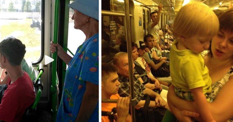 Женщины негодуют: почему мужики перестали уступать места в транспорте